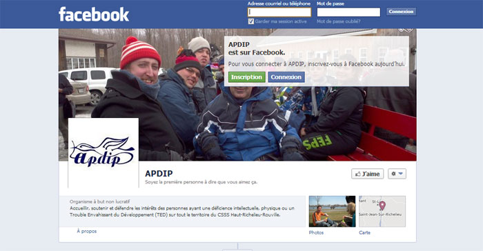 25 mars 2013: Suivez l'APDIP sur Facebook