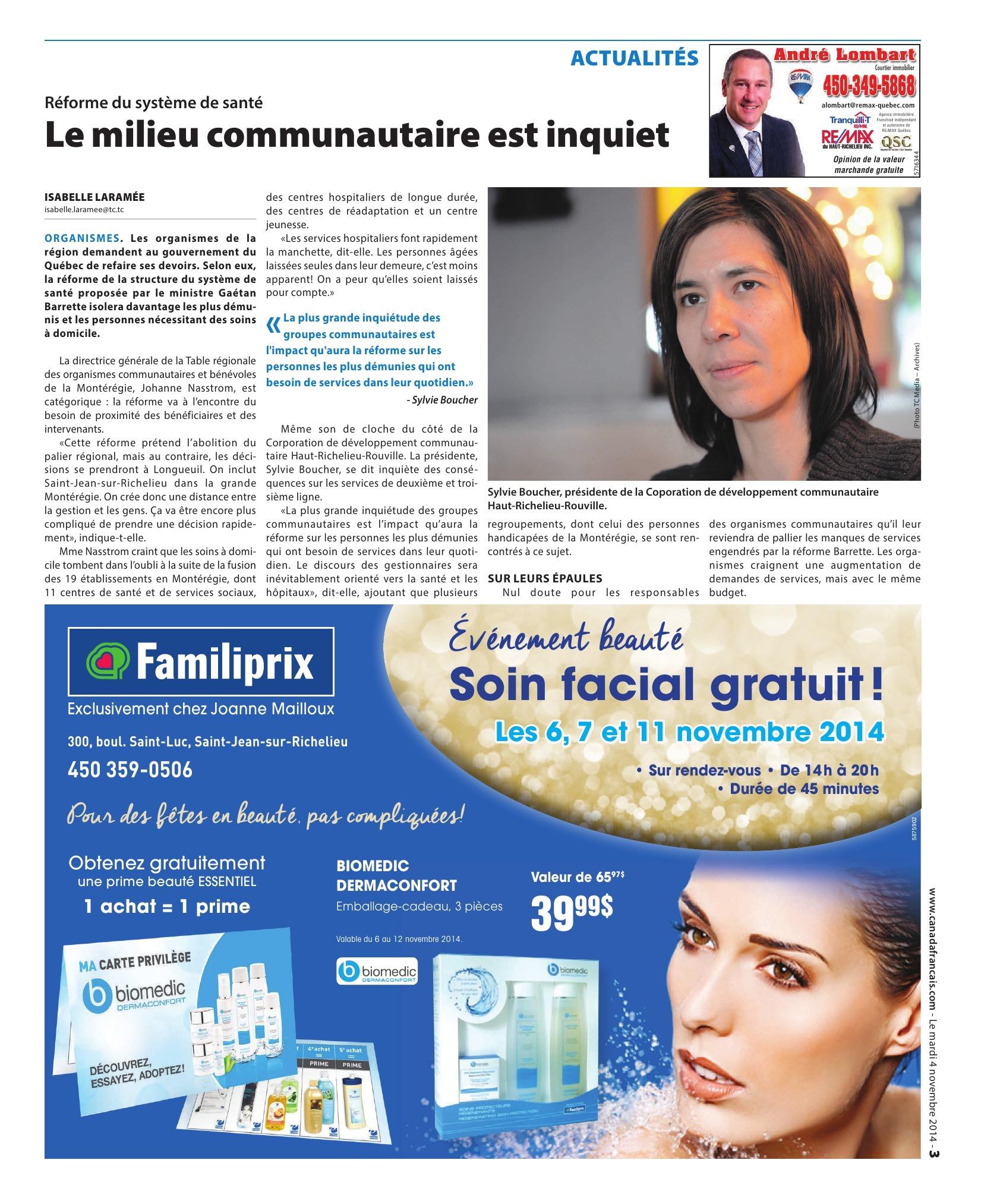 6 novembre | revue de presse : Le milieu communautaire est inquiet