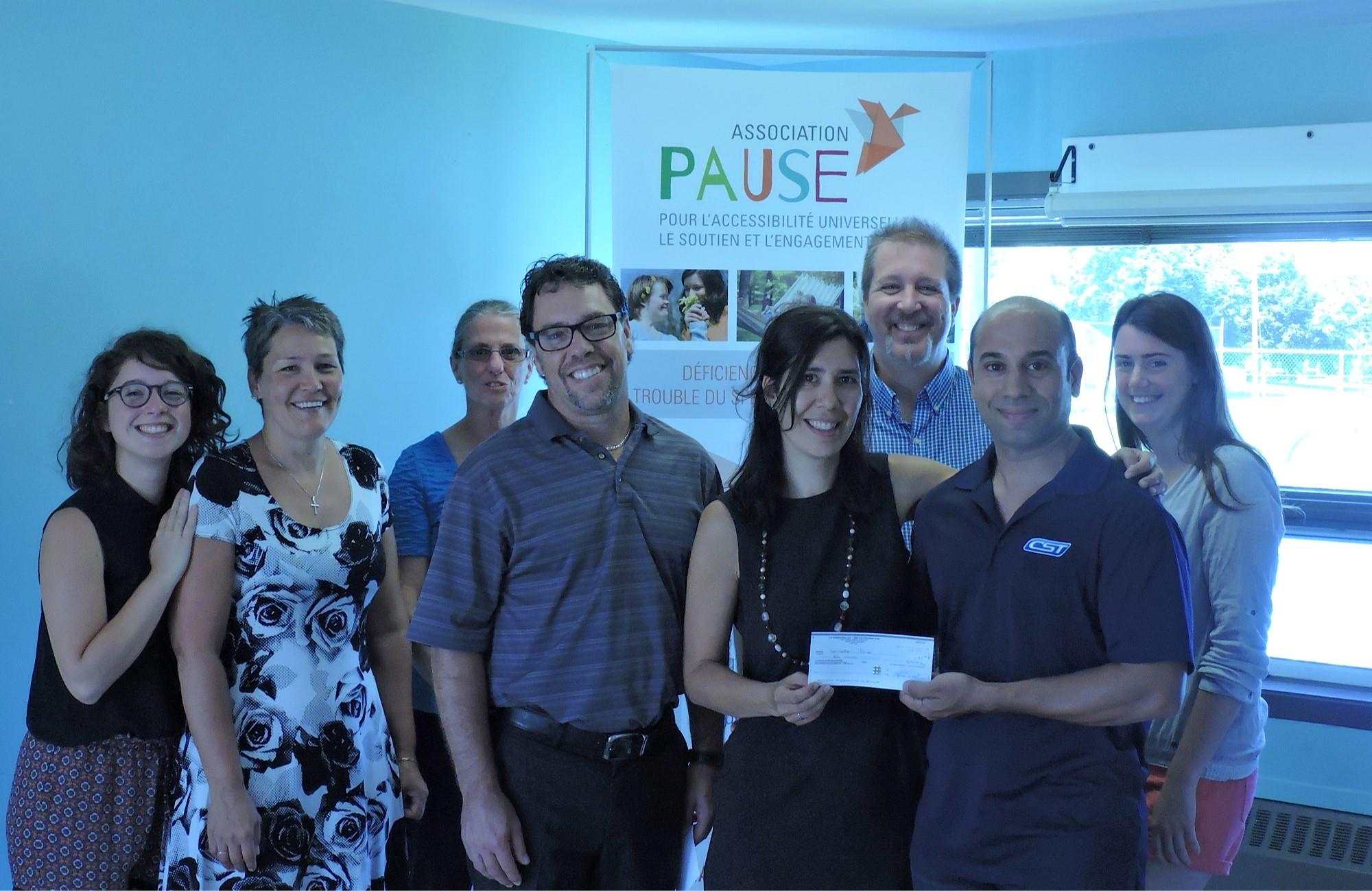 6 JUILLET | L'Association PAUSE reçoit 10 000 $